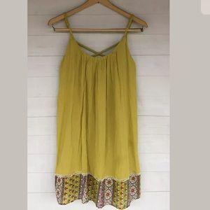 Entro women's Small yellow boho tunic tank top